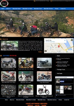 Thiết kế website du lịch hanoimotorbikeservices.com